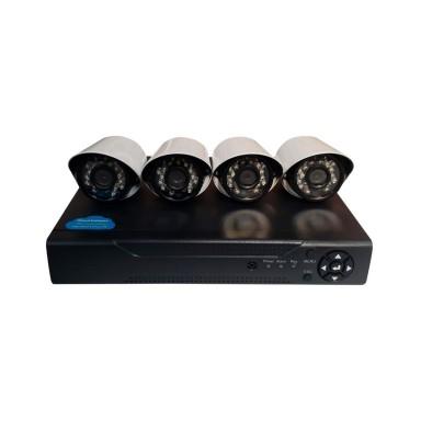 Set 4 cámaras de seguridad HD + DVR
