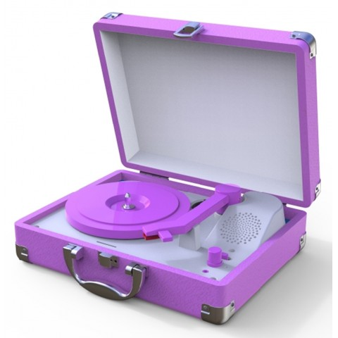 Tocadiscos Mini Purpura Tocadiscos y Tornamesas