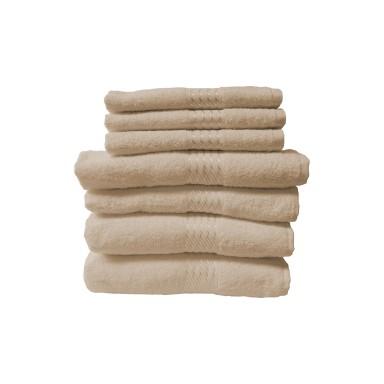 Set 7 toallas algodón marca Dohler gris