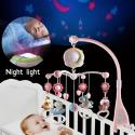 Bebé Rattles Crib móviles juguete titular giratorio móvil cama campana Musical caja proyección 0-12 meses recién nacido bebé ...