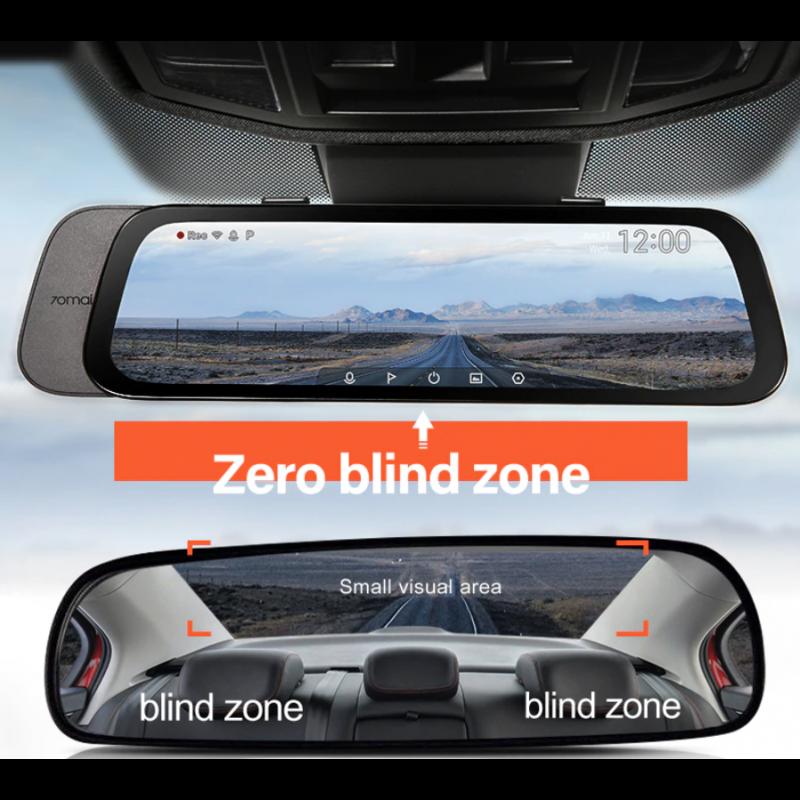2020 nuevo 9,35 pulgadas Pantalla Completa 70mai cámara de salpicadero retrovisor ancho 1080P Auto Cam 130FOV 70MAI espejo co...
