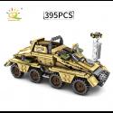 HUIQIBAO 395 Uds. Militar WW2 ejército blindado vehículo soldado bloques de construcción figuras arma Alemania camión de bloq...