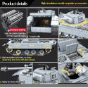 990 Uds. Tanque militar Pantera 121 bloques de construcción para Technic City WW2 tanque soldado arma ejército 100064 ladrill...