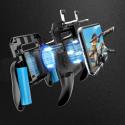 Pubg controlador teléfono Gamepad Pubg móvil gatillo L1R1 joystick disparador juego soporte ventilador con 2000/4000mAh Banco...