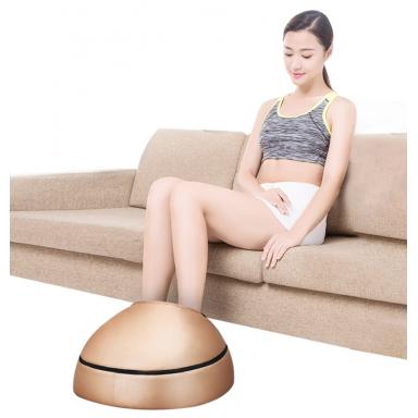 Rodillo masajeador de pies eléctrico, masajeador de cuero de moda para parte trasera del pie infrarroja con calefacción Shiatsu