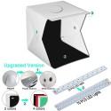 2 LED caja de luz plegable 40*40 portátil fotografía estudio Softbox brillo ajustable caja de luz para cámara DSLR Electrónica