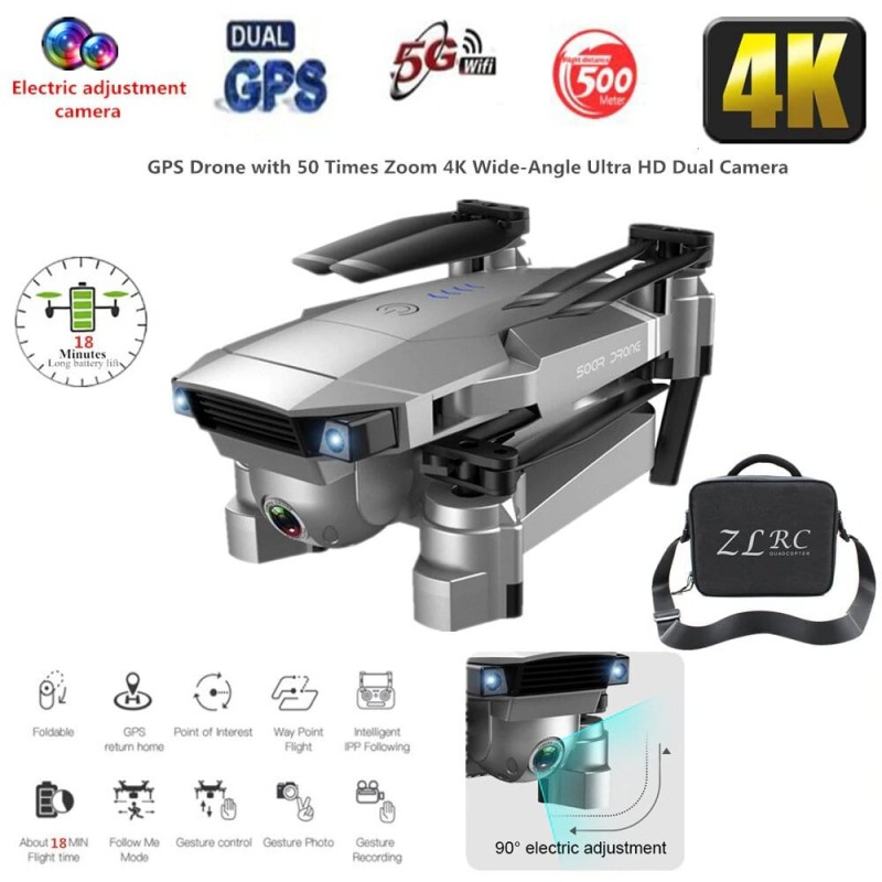 Mejor Dron GPS 4K 16MP HD Cámara 5G Sígueme WIFI FPV RC Quadcopter plegable Selfie Video en vivo Retención de altitud Auto Re...