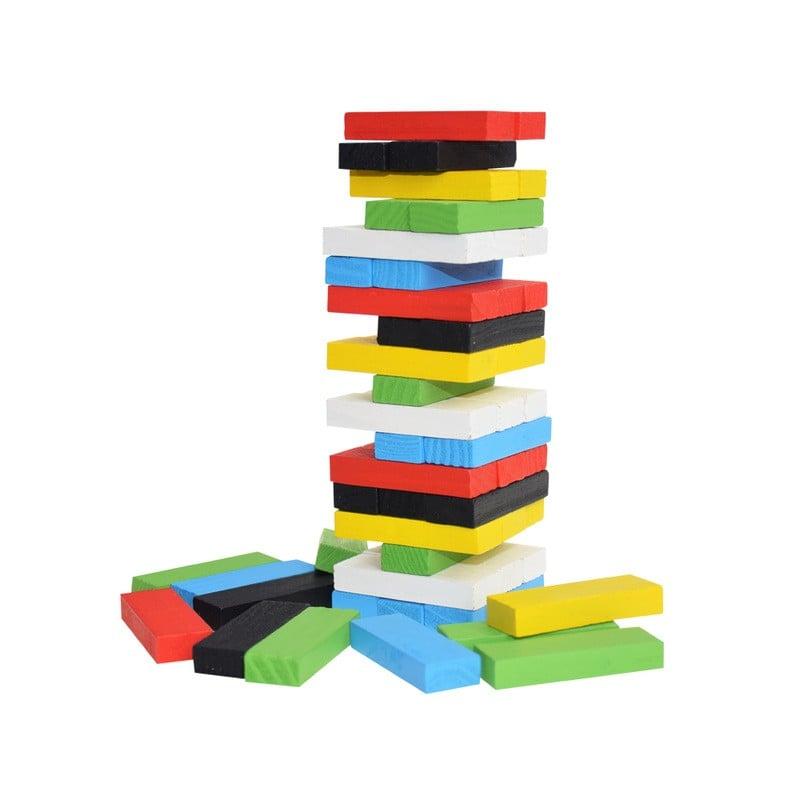 Original de madera Digital Jenga bloques de construcción juego para el cerebro de juguete moda niños entretenimiento intelige...