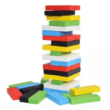 Original de madera Digital Jenga bloques de construcción juego para el cerebro de juguete moda niños entretenimiento inteligenci