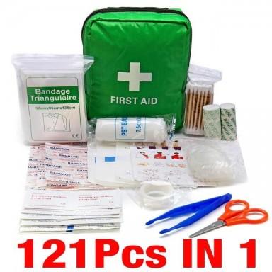 Mini Kit de bolsa de primeros auxilios para acampar, senderismo, equipo de emergencia médica, paquete de tratamiento para superv