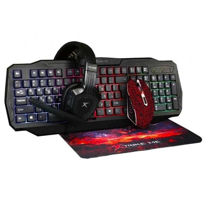 Kit Gamer Xtrike Teclado + Mouse + Audifonos + PAD Tecnología