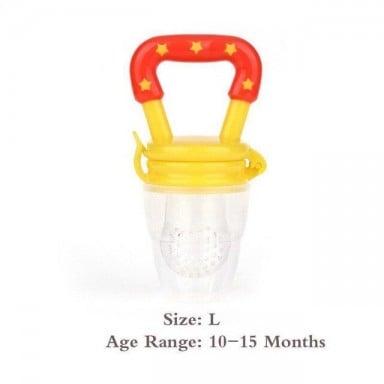 Alimentador de comida de bebé con chupete con pinza de soporte dentición de bebé fruta chupete alimentador chupete de comida inf