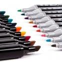 TOUCHCOOL marcador de dibujo de Manga marcadores de Arte de doble cabeza de Alcohol a base de plumas de marca pincel de croqu...