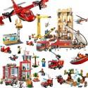 2019 nueva 60110 Compatible con lepining series de la ciudad de 60216 de la estación de bomberos bloques de construcción en m...
