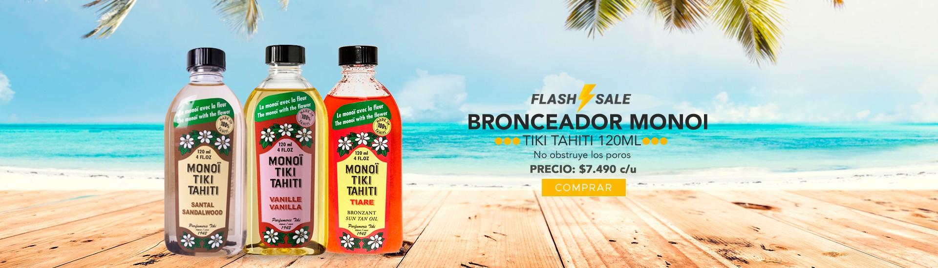 Bronceador Monoi tiki Tahiti varios aromas en El Container